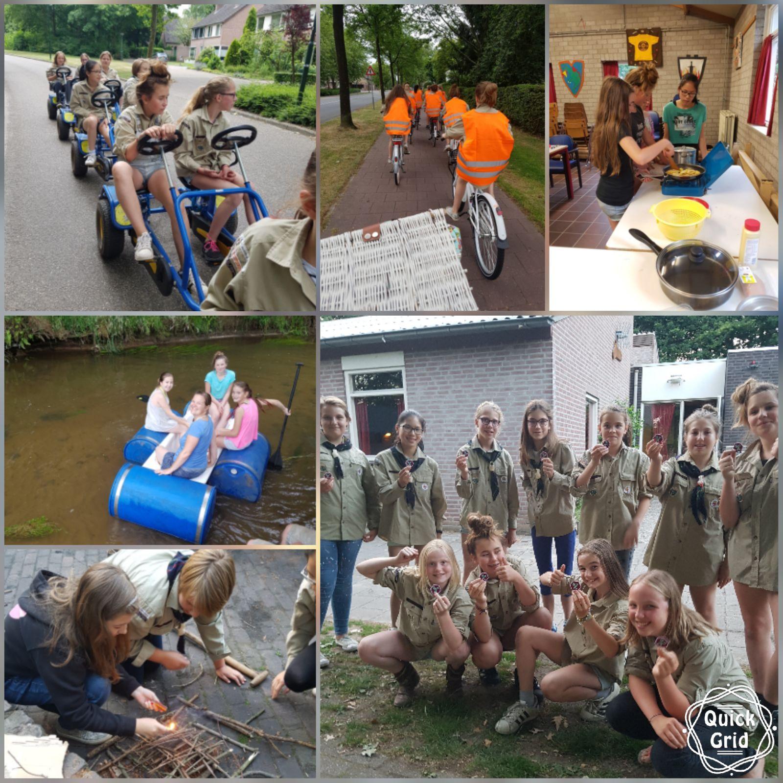 Fotocollage Scoutsweekend Juni 2017